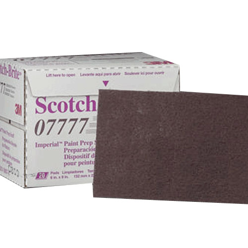 3M Scotch-Brite Imperial Paint Prep Scuff Maroon - 07777