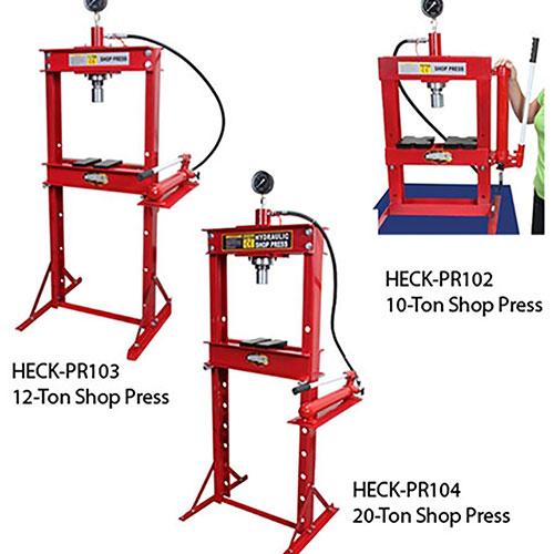 Woodward Fab 10- 12- or 20-Ton Professional Hydraulic Shop Presses