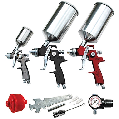 ATD Tools 9 pc. HVLP Spray Gun Set - 6900