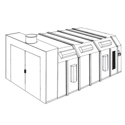 Col-Met Reverse Flow Paint Booth