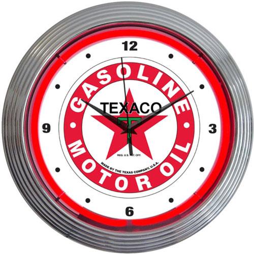 Neonetics Texaco Gasoline Neon Clock