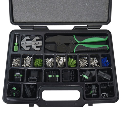 Astro 220pc Weather Pack Interchangeable Ratcheting Crimping Tool & Accessory Set - 9478