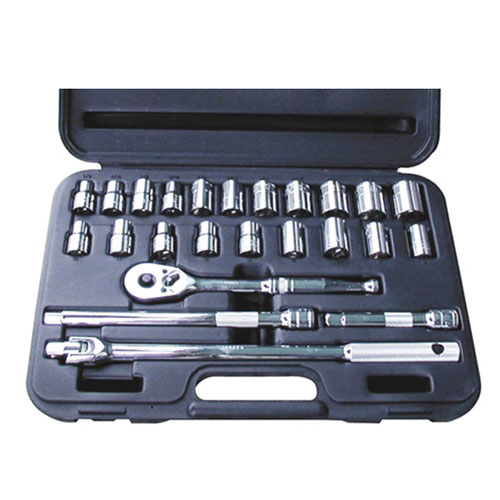 """24 Pc. 1/2"""" Drive 6 Point SAE and Metric Socket Set - 1360"""