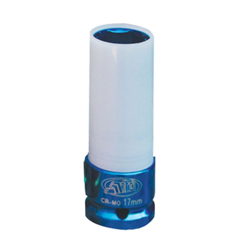 "1/2"" Dr 17mm (Blue) Thin Wall Protective Impact Socket - 4358"