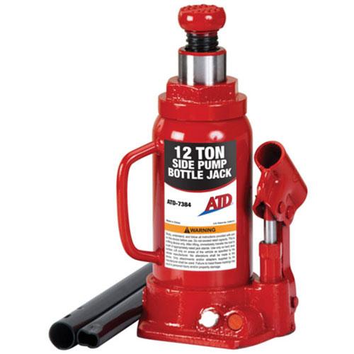 12-Ton Heavy-Duty Hydraulic Side Pump Bottle Jack