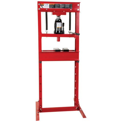 20-Ton Hydraulic Shop Press with Bottle Jack - 7454