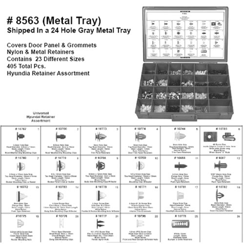 Hyundai Retainer Assortment - 8563