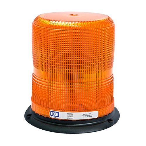 "ECCO Pulse II 7"" Heavy-Duty LED Beacon Light, Amber - EB7935A"