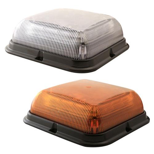 Ecco Square Beacon Light, 12-24VDC, 8 Flash Patterns - EB7180 Series