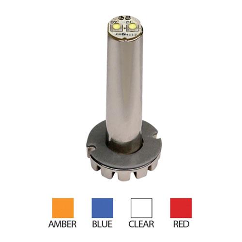 "ECCO Hide-A-LED Bullet Concealed Warning Light, 2"" Shaft, Self-Adhesive"