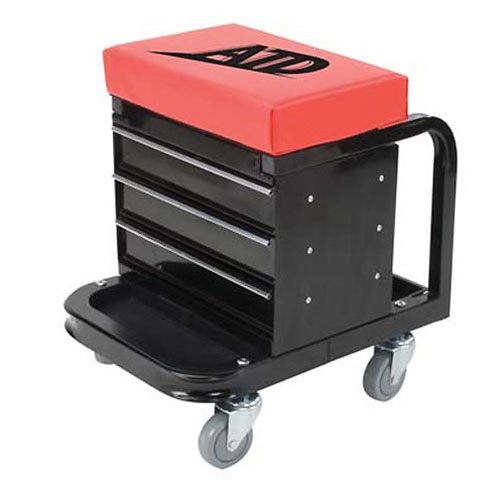 Heavy Duty Toolbox Creeper Seat, 450 lb Capacity
