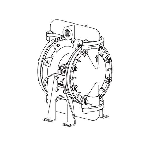 "Ingersoll Rand 1"" Diaphragm Pump - 650717-C"