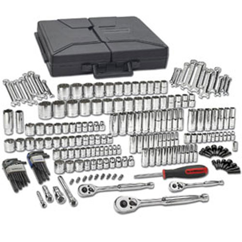 GearWrench 216 Piece SAE/Metric 6 & 12 Point Mechanics Tool Set Multi Drive - 80933