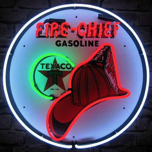 Neonetics TEXACO Fire Chief Neon Sign