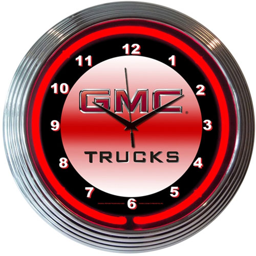 Neonetics GMC Trucks Neon Clock (Chevy)