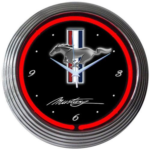 Neonetics Ford Mustang Neon Clock