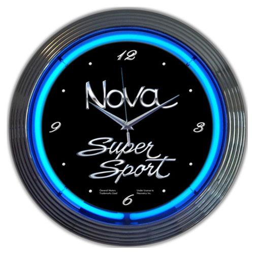Neonetics GM Chevy Nova Neon Clock