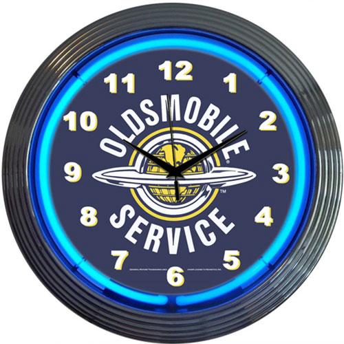 Neonetics GM Oldsmobile Service Neon Clock (Chevy)