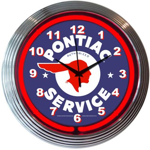 Neonetics GM Pontiac Service Neon Clock (Chevy)
