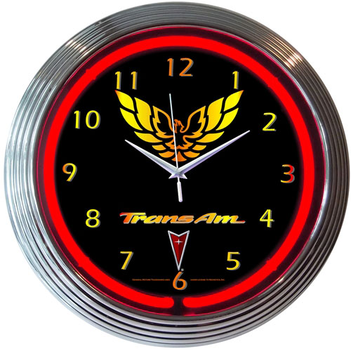 Neonetics GM Trans Am Neon Clock (Chevy)