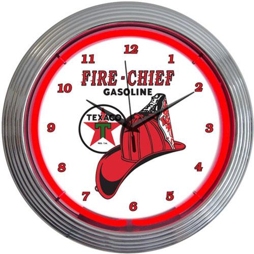 Neonetics TEXACO Fire Chief Neon Clock