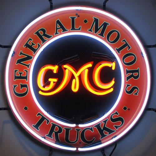 Neonetics GMC Trucks Neon Sign with Backing