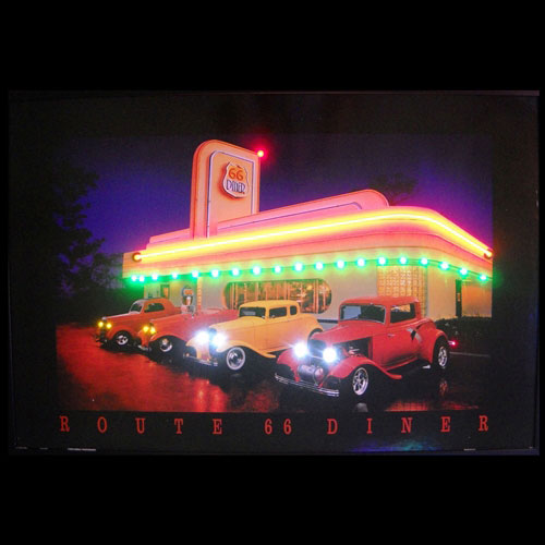 Neonetics Route 66 Diner Neon/LED Picture - 3R66NL