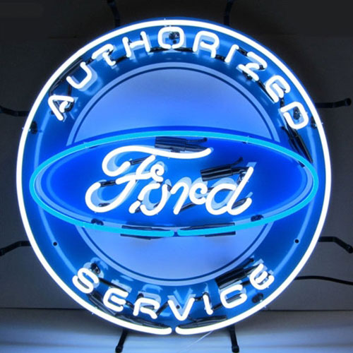 Neonetics Ford Authorized Service Neon Sign with Backing - 5FRDBK