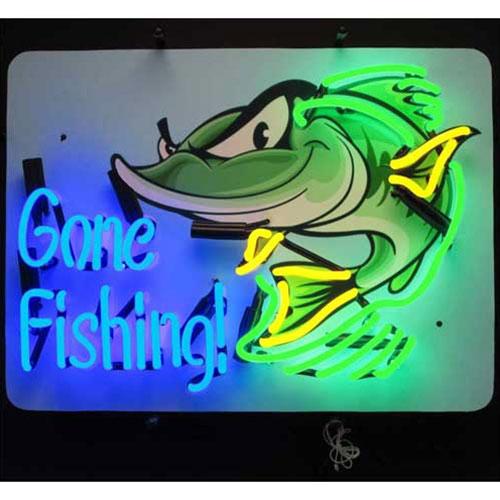 Neonetics Gone Fishing Neon Sign - 5GFISH