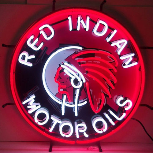 Neonetics Red Indian Motor Oils Neon Sign - 5GSIND