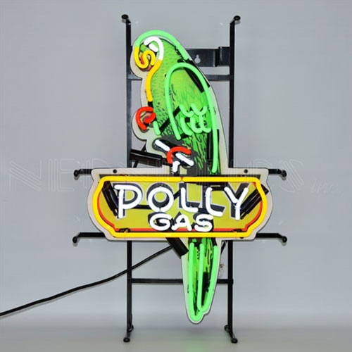 Neonetics Shaped Polly Gas Neon Sign with Backing - 5POLLY