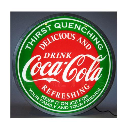 "Neonetics Coca-Cola Evergreen 15"" Backlit LED Lighted Sign - 7CCGRN"