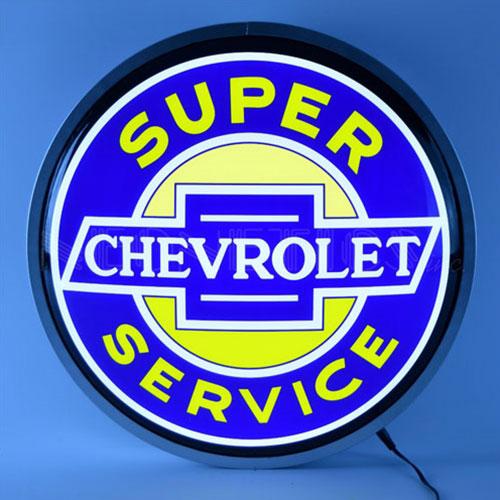 """Neonetics Super Chevrolet Service 15"""" Backlit LED Lighted Sign - 7CHEVS"""
