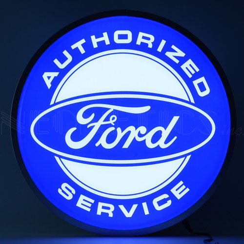 "Neonetics Ford Authorized Service 15"" Backlit LED Lighted Sign - 7FORDS"