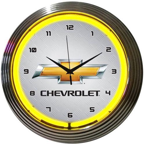 Neonetics GM Chevrolet Yellow Neon Clock - 8CHVYY