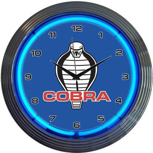 Neonetics Ford Cobra Neon Clock - 8COBRA