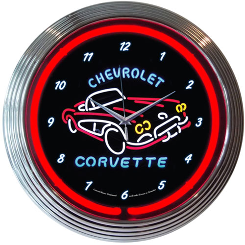 Neonetics GM Corvette C1 Neon Clock - 8CORV1