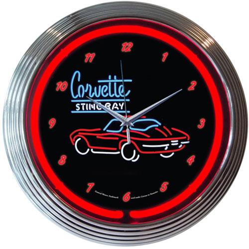 Neonetics GM Corvette SR Neon Clock - 8CORV2