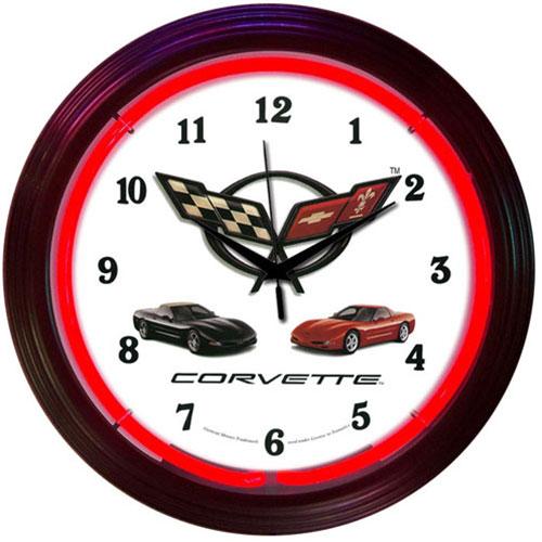 Neonetics Corvette C5 Neon Clock - 8CORVX