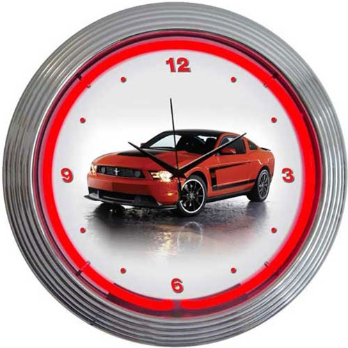 Neonetics Ford Mustang Boss 302 Neon Clock - 8FBOSS