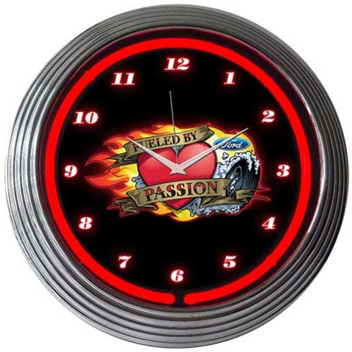 Neonetics Ford Fueled By Passion Neon Clock - 8FFUEL