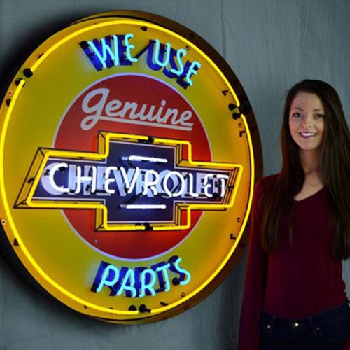 "Neonetics Chevrolet 36"" Neon Sign in Metal Can - 9CHVBK"