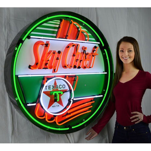 "Neonetics Texaco Sky Chief 36"" Neon Sign in Metal Can - 9TXSKY"