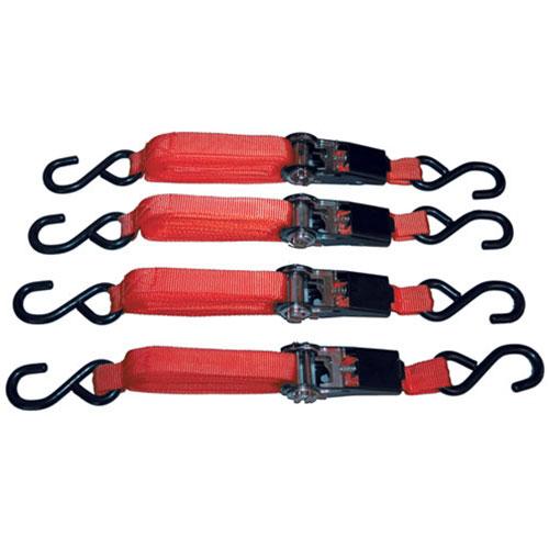 4pc Ratcheting 15 ft. Tie Down Set - 8072
