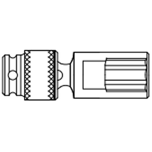 Sunex 317UMD 3//8 Drive Deep Universal 6 Point Impact Socket 17mm