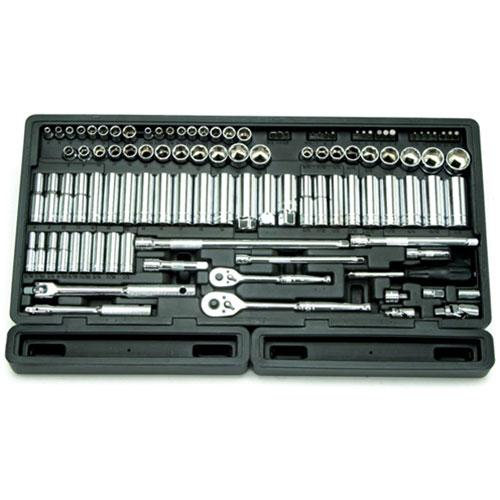 "106 Pc. 1/4"" & 3/8"" Dr. 6-Point Master SAE & Metric Chrome Socket Set - 1380"