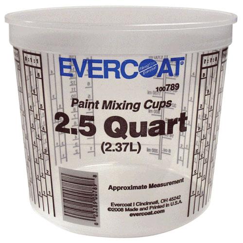 Evercoat Paint Mixing Cups - 2.5 Quarts