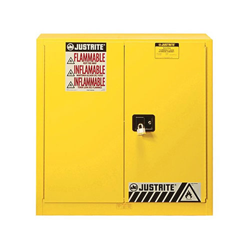 Justrite 30 Gallon Sure-Grip Ex Safety Cabinet - Yellow - 893300