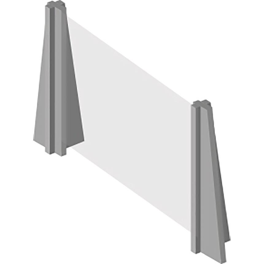 InteliShield Protective Screen – Economy Counter Top 30 x 48 in - (4)