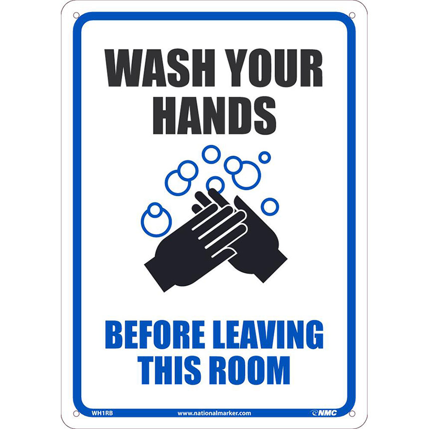 Wash Your Hands Plastic Sign